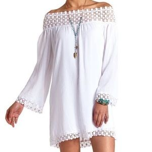 Charlotte Russe White off the shoulder dress XS